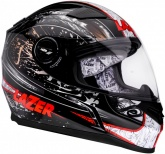 Kask motocyklowy LAZER BAYAMO Helter czarny/szary/biały