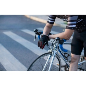 ROCKBROS Rękawiczki rowerowe (długie, czarno czerwone) rozm.M