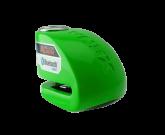 Blokada na tarczę z alarmem i bluetooth XX6 zielona - bolec 6 mm