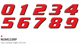 PRINT zestaw 10 naklejek (cyfry) w kolorze czerwonym