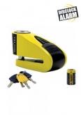 AUVRAY blokada na tarczę z alarmem  B-LOCK 10 - żółta / czarna, średnica bolca 10mm (klasa S.R.A.)