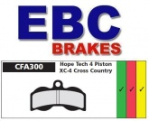 Klocki rowerowe EBC (spiekane) Hope 4 Piston XC4 CFA300HH