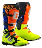 Buty motocyklowe GAERNE G-REACT GOODYEAR pomarańczowo-niebiesko-żółte 42