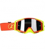 LAZER Gogle Race Style Mirror Red - Yellow Fluo - Red kol. Mirror Silver