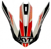 Daszek kasku STRIKE EAGLE STRIPE WHITE/RED FLUO