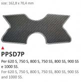 PRINT Naklejka na półkę kierownicy Ducati 620S 750S 800S 750SS 800SS 900SS 1000SS