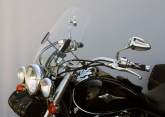 Uniwersalna szyba do motocykli bez owiewek MRA, forma HITR, bezbarwna