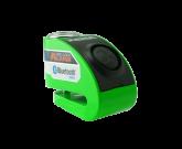 Blokada na tarczę z alarmem i bluetooth XZZ6 zielona - bolec 6 mm