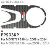 PRINT Naklejka na półkę kierownicy Ducati Monster Ducati 696 from 2008/2014